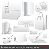 Blank corporate objects for business style Stock Photos
