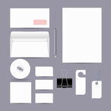 Blank corporate objects for business style. Royalty Free Stock Image