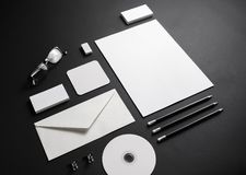 Blank corporate stationery royalty free stock photography