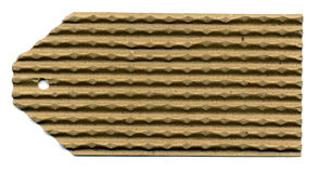 Blank Corrugated Long Tag Stock Image