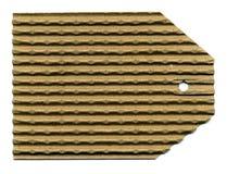 Blank Corrugated Tag Royalty Free Stock Image