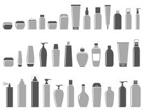 Blank cosmetic bottle set Royalty Free Stock Photo