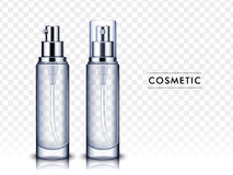 Blank cosmetic bottles Royalty Free Stock Photos