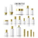 Blank cosmetic package collection Royalty Free Stock Photography