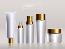 Blank cosmetic package design Royalty Free Stock Photos