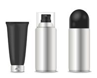 Blank cosmetic tubes for man Royalty Free Stock Photos