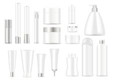 Blank cosmetic tubes Royalty Free Stock Images