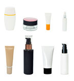Blank cosmetics bottle. On the white background stock photo