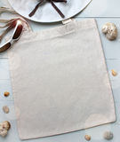 Blank cotton tote bag, design mockup. stock photos