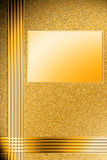 The blank for the cover on the basis of the golden rough surface. Background on the basis of a rough gold surface with gold frame Royalty Free Stock Photography