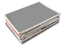 Blank cover page magazine stack Royalty Free Stock Photos