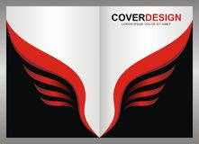 Blank - Cover / Poster with Eagle wings style Background Royalty Free Stock Image