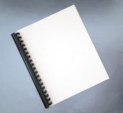 Blank cover of spiral notebook Royalty Free Stock Photo