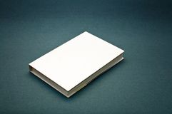 Blank cover white book Royalty Free Stock Images