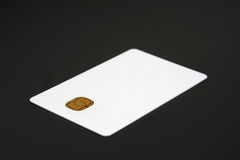 Blank credit card. Blank and white credit card with chip Royalty Free Stock Photos