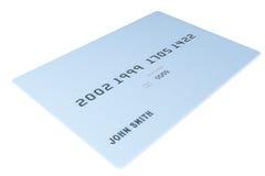 Blank Credit Card Stock Image