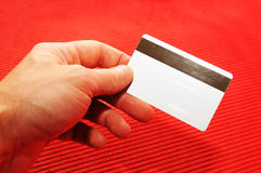 Blank credit card Stock Photos