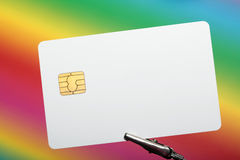 Blank credit card Royalty Free Stock Photos