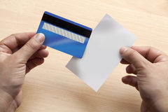 Blank credit card and receipt Stock Image