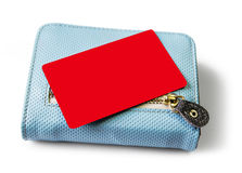 Blank credit card and  wallet on white background Stock Photography