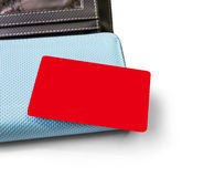 Blank credit card and  wallet on white background Royalty Free Stock Photography
