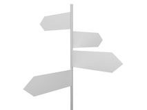 Blank Crossroad Signs Stock Image