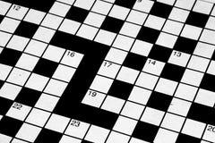 Blank crossword. Detail of a blank crossword Stock Photos