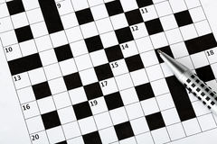 Blank crossword puzzle Royalty Free Stock Image