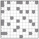Blank Crossword Puzzle Square Background. Crossword - blank crossword puzzle pattern, square format template, to insert any words with one to twelve letters for Stock Images