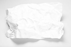 Blank crumpled sheet of paper Stock Image
