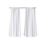 Blank Curtains Template Royalty Free Stock Photography