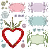 Blank cute frames for text and buttons Royalty Free Stock Photos