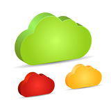 Blank 3d cloud shapes. Vector illustration Royalty Free Stock Photos