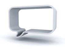 Blank 3d speech bubble on white background with shadow Stock Image
