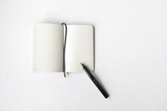 blank dagbokpenna Royaltyfri Bild