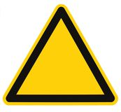 Blank Danger Hazard Triangle Sign Isolated Royalty Free Stock Photo