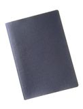 Blank passport. A blank dark blue passport cover with copy space isolated on white background Stock Photography