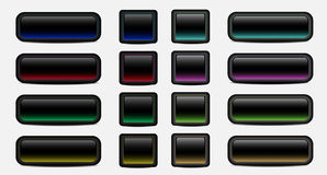 Blank dark buttons Royalty Free Stock Photography