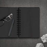 Blank dark note book Royalty Free Stock Images