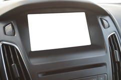 Blank dashboard lcd display stock photography