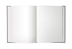 Blank den isolerade öppna boken - XL 库存图片