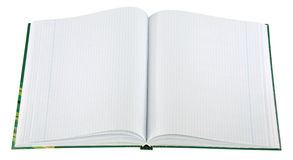 blank den isolerade anteckningsboken Royaltyfri Fotografi