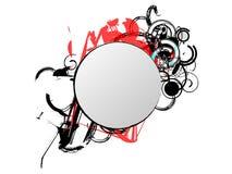blank den runda planlagda isolerade etiketten Royaltyfri Fotografi