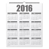 Blank design calendar on a grey background with shadow stock illustration