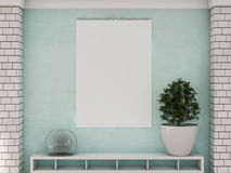 Blank design calendar template on a wall with soft shadows. 3D r Royalty Free Stock Photos