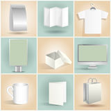 Blank Design Items Templates Set Stock Photos