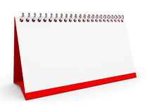 Blank desk calendar. Blank desk calendar on white background. 3D illustration Royalty Free Stock Image