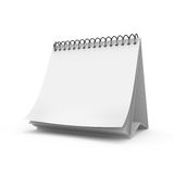 Blank desktop calendar Stock Photo