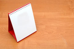 Blank desktop calendar Stock Photo