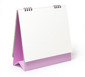 Blank desktop calendar on white background Royalty Free Stock Photography